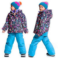 Зимний комплект для девочки от 2 до 6 лет (куртка, полукомбинезон) ТМ Deux par Deux Голубой B803-459
