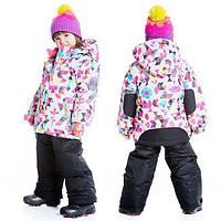 Зимний комплект для девочки от 4 до 6 лет (куртка, полукомбинезон) ТМ Deux par Deux Черный B803-999