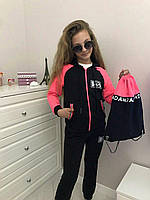 Спортивный костюм для девочки  9-14 лет, розовый
