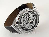 Часы женские Alberto Kavalli серебристые узоры, восточный стиль