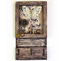 Настенная ключница в эко-стиле Подарки для дома Ручная работа, фото 1