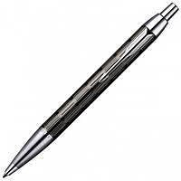 Шариковая ручка Parker IM Premium Custom Chiselled BP черная лакированная с хромированной отделкой 20 432B