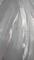 Тюли вуаль Камилла с листиком(kod 2701)