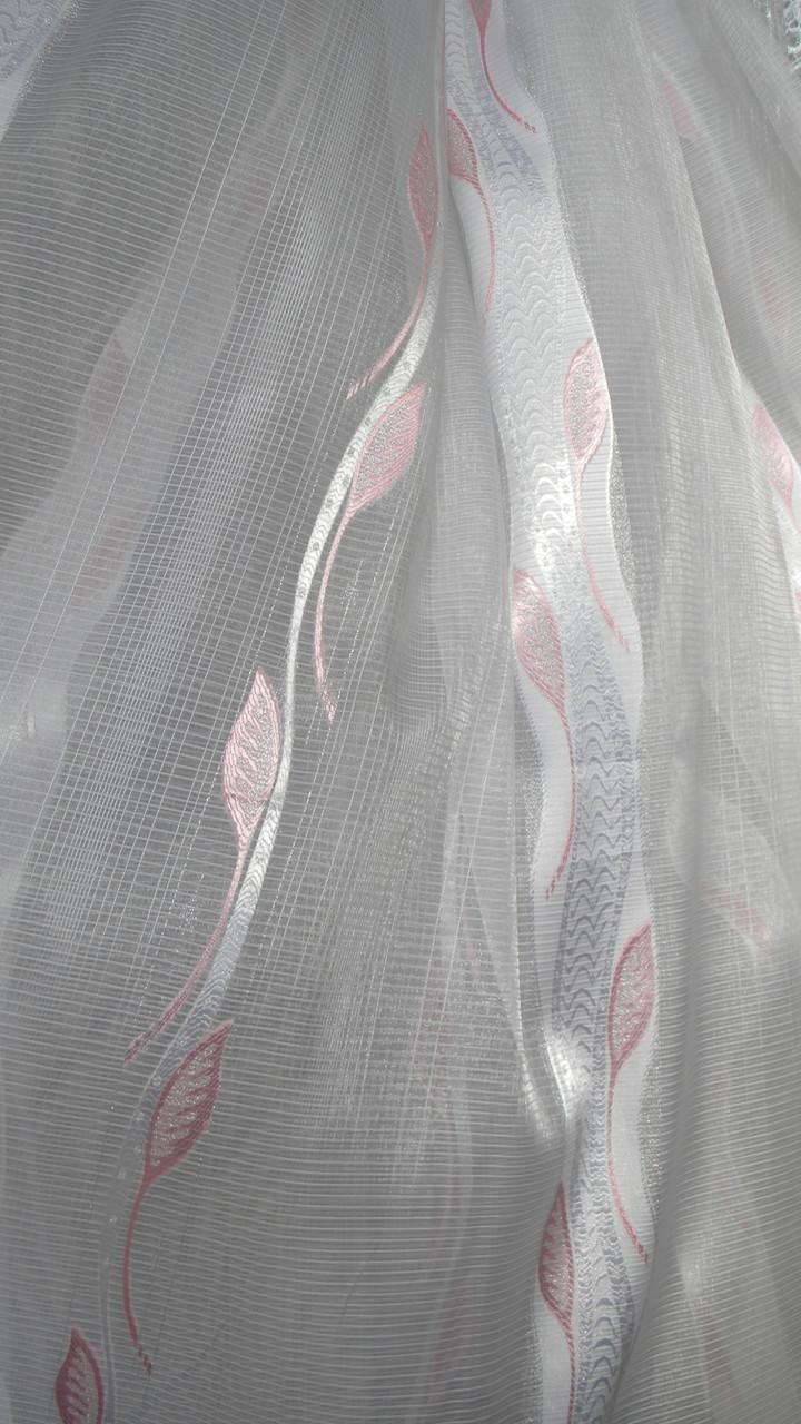 Тюли вуаль Камилла с листиком(kod 2701) - Textile plus в Хмельницком