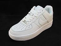 Кроссовки мужские Nike Air Force кожаные белые (аир форсы)  (р.42,43,44,46)