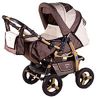 Детская коляска трансформер «Young» Adamex 620922, шоколад