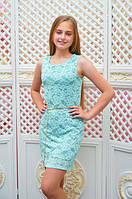 Подростковое платье-футляр Анита для девочки р.134-152 мята