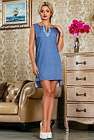 Элегантное Деловое Платье с Удлиненной Спинкой S-2XL