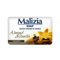 Мыло туалетное твердое миндаль и ваниль Malizia Almond & Vanilla 90г