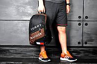 Рюкзак городской спортивный, для ноутбука, мужской, женский, черный+коричневый