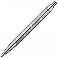 Шариковая ручка Parker IM Premium Shiny Chrome Chiselled BP металлическая с хромированной отделкой 20 432C