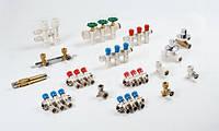 Коллектор Valsir на 3 вывода с вентилями 3/4х3х16 (Италия) обратка, фото 1