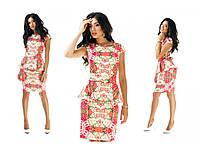 Платье цветы баска