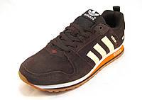 Кроссовки мужские  Adidas  замшевые коричневые (р.41,42,43,44,45)