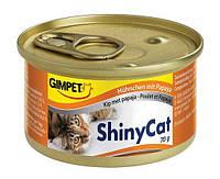Консервы Gimpet Shiny Cat для кошек с курицей и папайя, 70 г