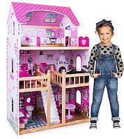 Кукольный домик.Дом для кукол барби. Будиночок  для ляльок. BARBIE + MEBLE+2куклы в подарок