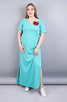 Линда. Красивое летнее платье в пол. Мята. 50