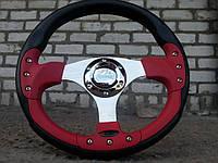 Руль спортивный №815. с переходником на ВАЗ 2110