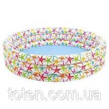 Бассейн надувной детский Intex 56440 Морские обитатели, 168 х 41 см, разноцветный