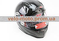 Шлем закрытый + откидные очки, подкачка FF385 CT2 Solid КАРБОНОВЫЙ(100%) - ЧЕРНЫЙ