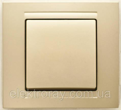 Выключатель Gunsan Moderna Metallic золото, фото 2