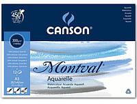 Склейка для акварели, А3 (29,7х42см), 300г/м.кв., 12л., Montval FIN, Canson