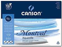 Склейка для акварели Canson Montval FIN А4+ (24х32см) 300 г/м2 12 листов (200807319)