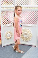 Летний сарафан для девочки Микки Маус р.110-122 розовый