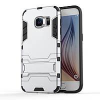 Чехол накладка силиконовый Armor Shield для Samsung Galaxy S7 G930 серебро