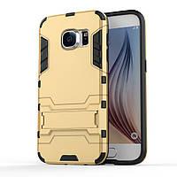 Чехол накладка силиконовый Armor Shield для Samsung Galaxy S7 G930 золотой