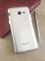 Мягкий чехол-накладка IPAKY для Samsung Galaxy J520 Серебристый