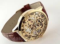 Мужские часы Omega skeleton, механика с автозаводом, скелетон