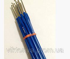 Крючки вязальные с синей ручкой,3.5 мм