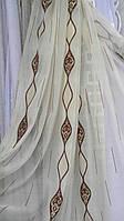 Тюль вуаль Латирус с узором (kod 2702)
