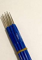 Крючок для вязания с синей ручкой 1 мм