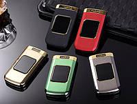 Телефон-раскладушка в металле Tkexun M3 на 2 Sim, фото 1