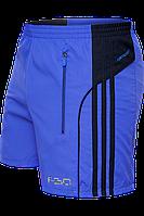 Мужские спортивные шорты синие с полосками