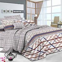 Двуспальный комплект постельного белья 180*220 сатин (7331) TM KRISPOL Украина