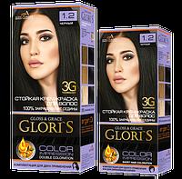 Краска для волос Gloris 1.2 Черный ( 2 применения)