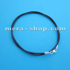 Чокер с серебряным замком (⌀2,0 мм) шнурок для кулона