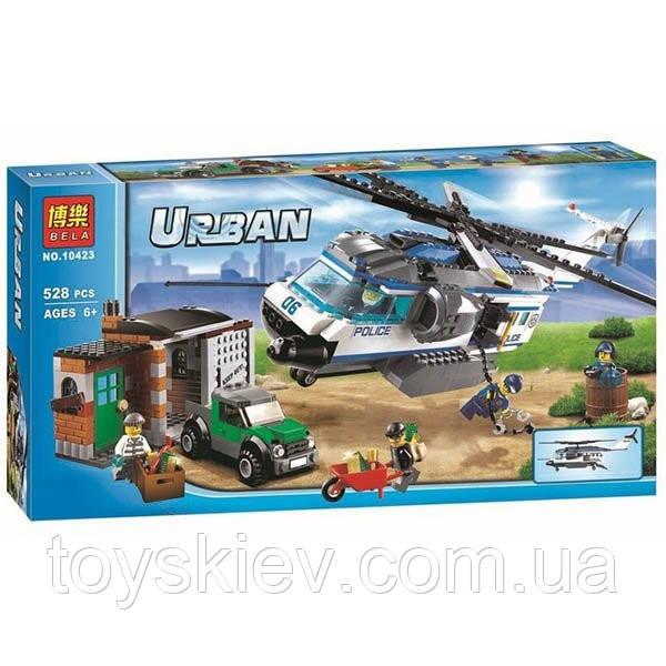 """Конструктор Bela 10423 серия Urban город (агалог Lego City 60046) """"Вертолётный патруль"""""""