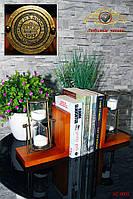 Часы песочные - деревянный форзац для книги. 30 минут.