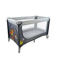Манеж-кровать CARRELLO Piccolo+сумка, Grey