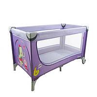Манеж-кровать CARRELLO Piccolo+сумка, Purple