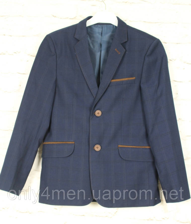 Пиджак синий для мальчика 146-170, подростковая одежда