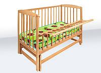 Кроватка детская на шарнирах с откидной боковиной (Гойдалка)