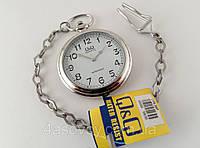 Часы карманные Q@Q  стильные на металлической цепочке