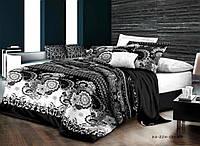 Черно белый комплект постельного белья семейный
