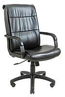 Кресло Рио Пластик, подлокотники с накладками мех., Пиастра, черный