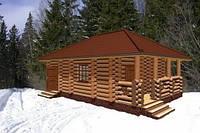 Деревянные бани с оцилиндрованного бревна